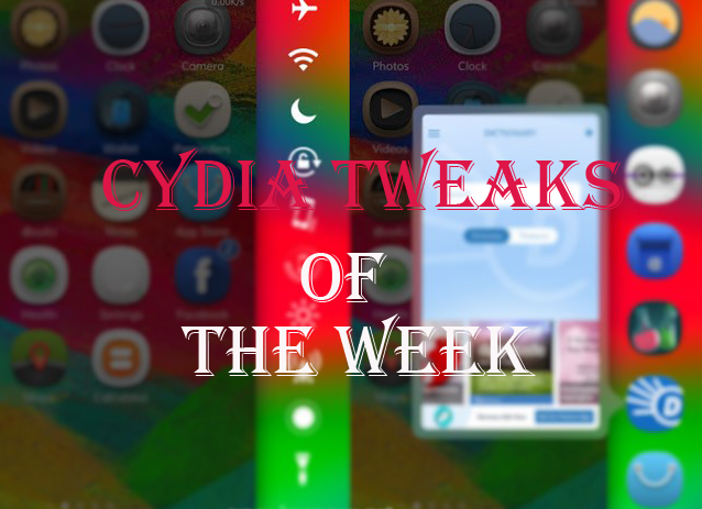 What's up guys! Now it's time to look up the cydia tweaks released in this week which you might missed in these days due to lack of time and didn't get a chance to look at Cydia