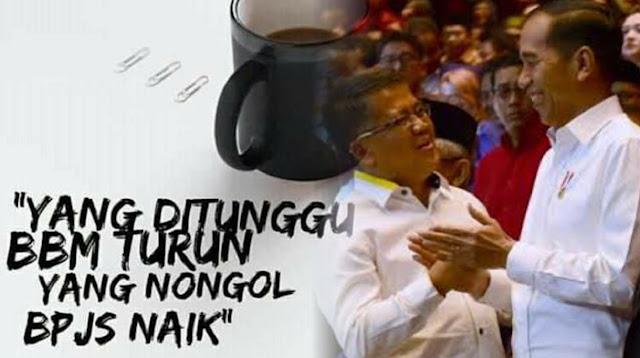 "Presiden PKS Unggah Meme, ""Yang Ditunggu BBM Turun, Yang Nongol BPJS Naik"""