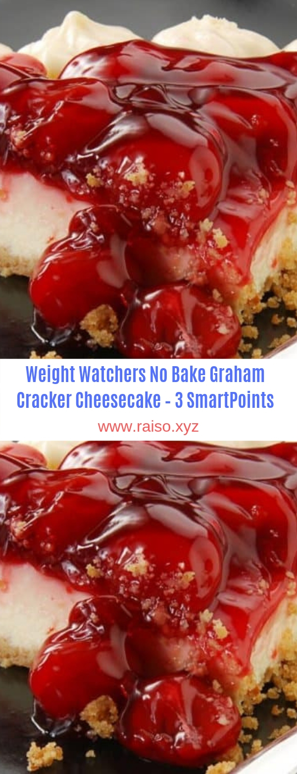 Weight Watchers No Bake Graham Cracker Cheesecake – 3 SmartPoints