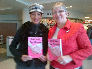 Dionne Warner and Deana Driver at a Never Leave Your Wingman book signing, Feb. 7, 2013