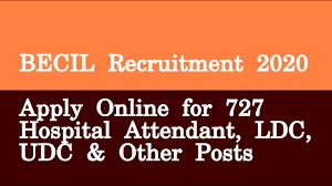 BECIL Recruitment 2020,BECIL Non Faculty Jobs 2020,becil.com,727 Group B & Group C Vacancies,BECIL,BECIL Recruitment,AIIMS Bhopal Non Faculty Group B
