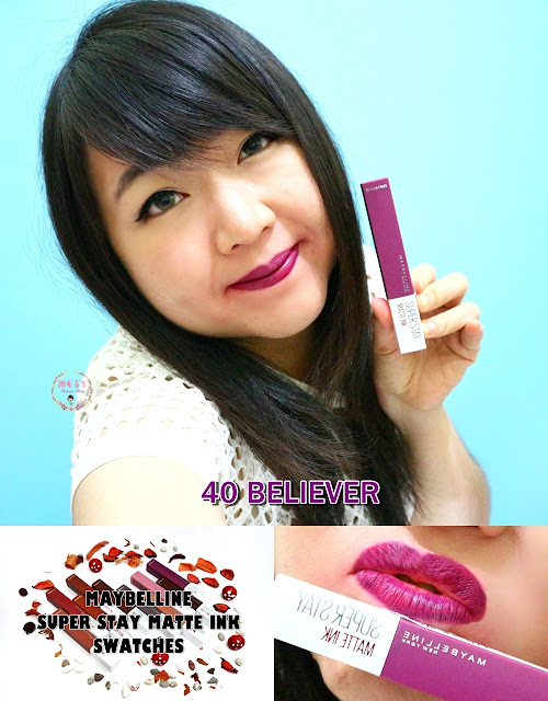 Maybelline Super Stay Matte Ink 40 Believer Swatches