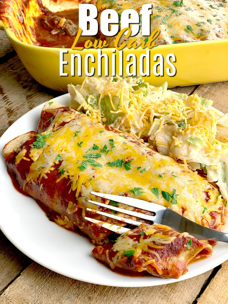 Easy Low Carb Beef Enchiladas Bobbi S Kozy Kitchen