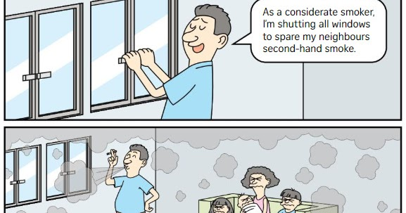 If Only Singaporeans Stopped to Think: Stuck with a smoking