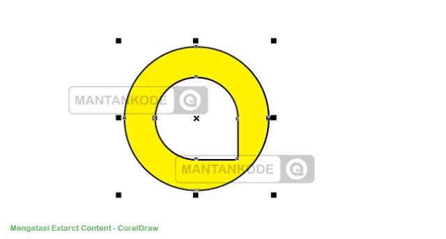 hasil frame powerclip tanda silang dicoreldraw - mantankode