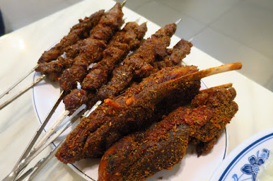 Jia Yan Restaurant, lamb skewers ribs