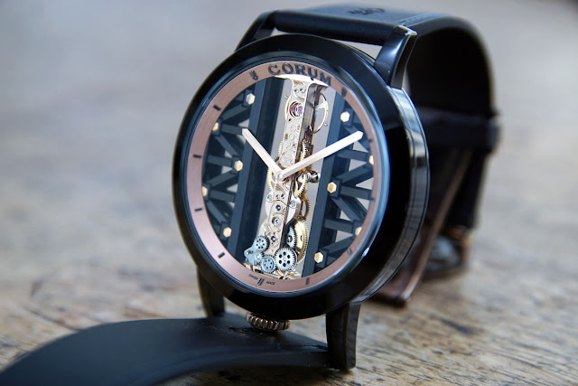 Corum Golden Bridge Titane DLC rose gold