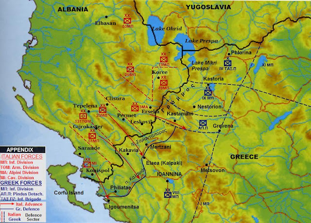 2 November 1940 worldwartwo.filminspector.com Map Albanian-Greek front 1940