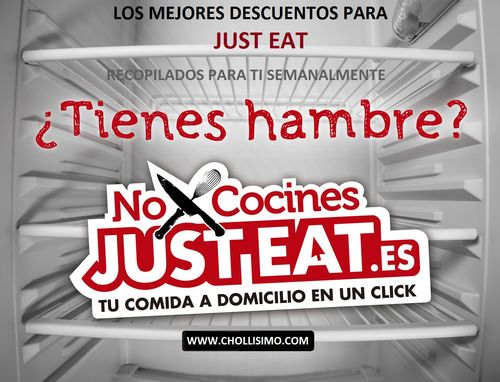 Descuentos JUST EAT, Descuentos La Nevera Roja, Descuentos JUSTEAT, CHOLLO JUST EAT, Chollo La nevera roja, códigos Just Eat, códigos La Nevera Roja
