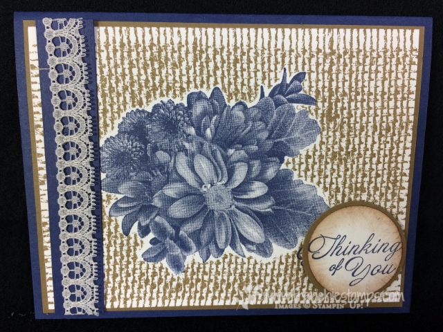 Heartfelt Blooms, Burlap, Stampin'Up!, Frenchie Stamps,