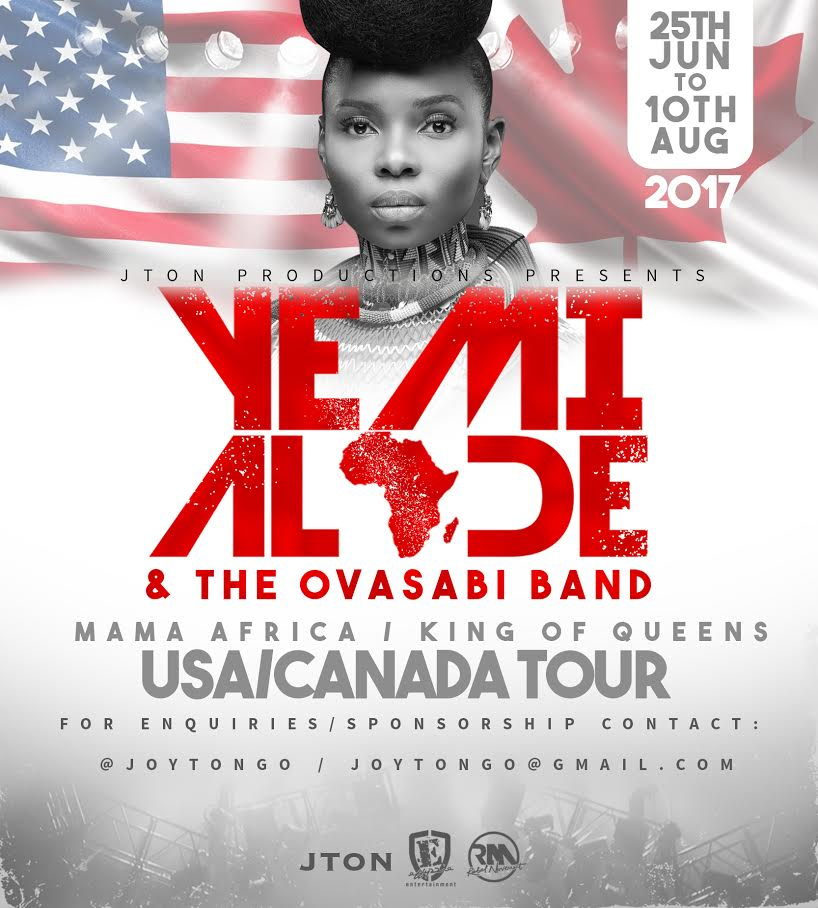 YEMI ALADE and the Ovasabi band live in the USA AND CANADA this summer