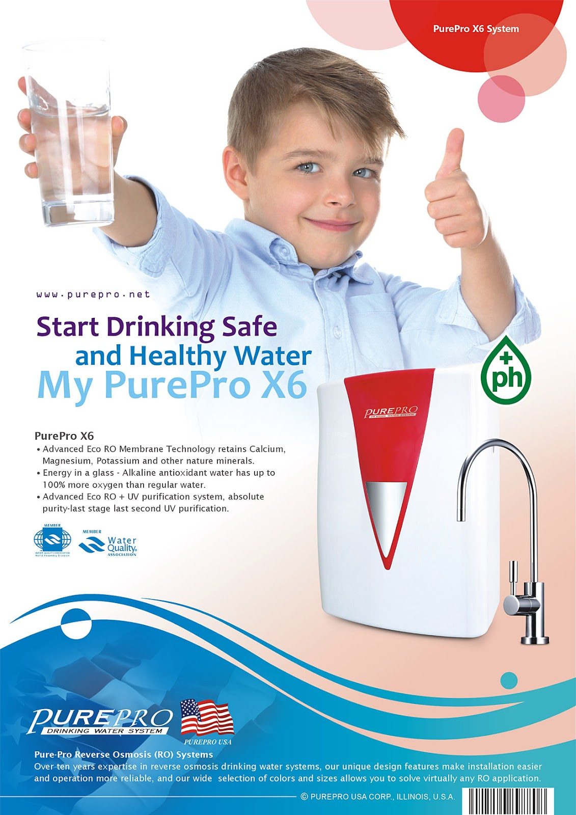 PurePro® X6 : My Pure Water, My PurePro X6, Alkaline Ultraviolet Reverse Osmosis System