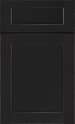 Diamond Cabinet Shaker Style Montgomery in black :: OrganizingMadeFun.com
