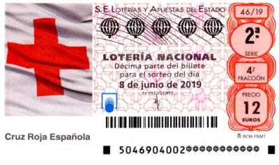 """Sorteo 46 Lotería Nacional, sábado 8 de junio de 2019 """"Especial Cruz Roja"""""""