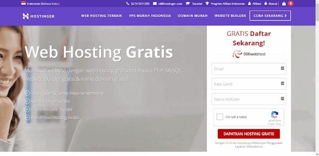 7 Daftar Domain Dan Hosting Gratis Paling Populer (100% Free!)