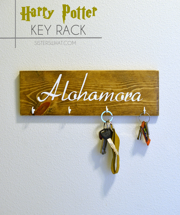 DIY alohomora harry potter key rack