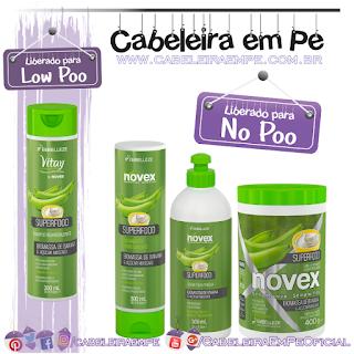 Shampoo (Liberado para Low Poo), Condicionador, Máscara e Creme para Pentear (Liberados para No Poo) Superfood Biomassa de Banana e Açúcar Mascavo - Novex
