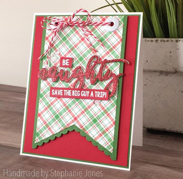 Sunny Studio Stamps: Sunny Saturday Fishtail Banner Dies Customer Card Share by Stephanie Jones