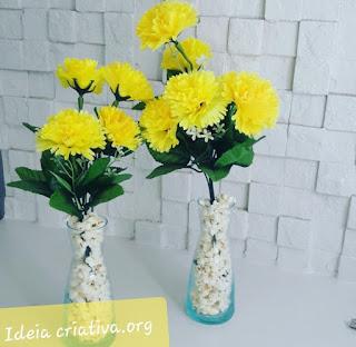 Decoração Festas Juninas - Enfeite de mesa Ideia Criativa