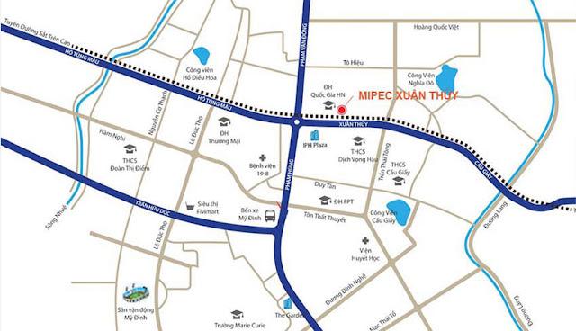 giá bán dự án chung cư Mipec Rubik 360 122-124 Xuân Thủy Cầu Giấy Hà Nội - CĐT Mipec