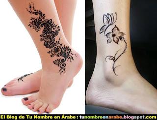 Tatuajes con henna para mujeres