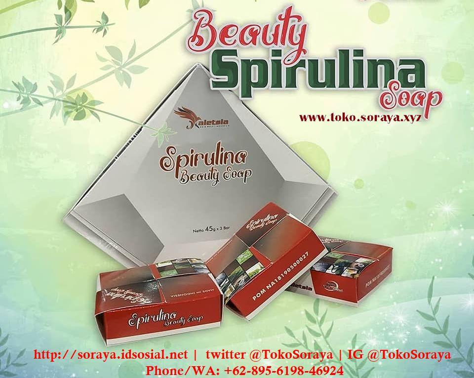 photo sabun kecantikan beauty spirulina soap