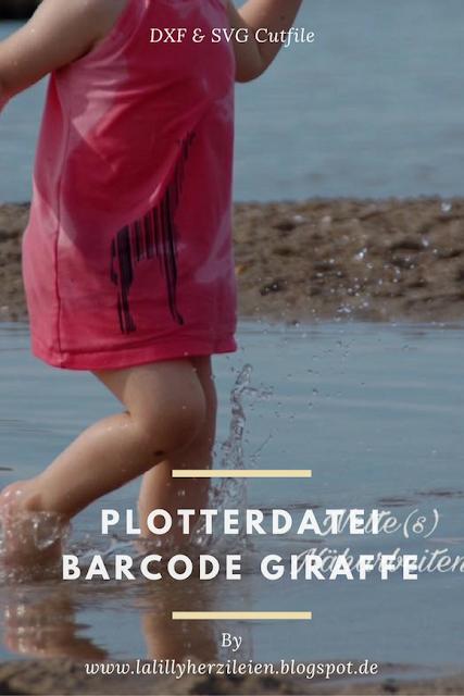 Giraffe im Barcodestil, nach der Schnittdatei Barcode Animal 1 Beispiel von Nette(s) Näharbeiten