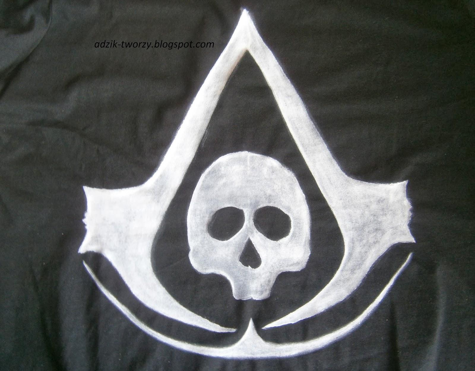 Ręcznie malowana bluzka Assasin's Creed: Black Flag