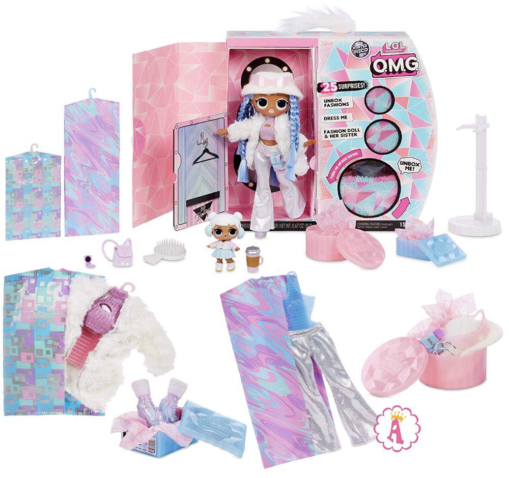 Кукла Лол Сюрприз ОМГ Snowlicious и сестричка Snow Angel