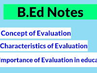 B.Ed Notes: Importance of Evaluation in Education