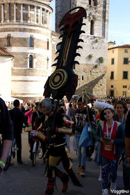 I cosplayer di Lucca lungo le vie del centro