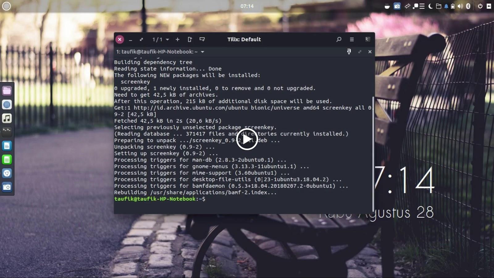 Cara Menampilkan Input Keyboard Pada Linux - Screenkey