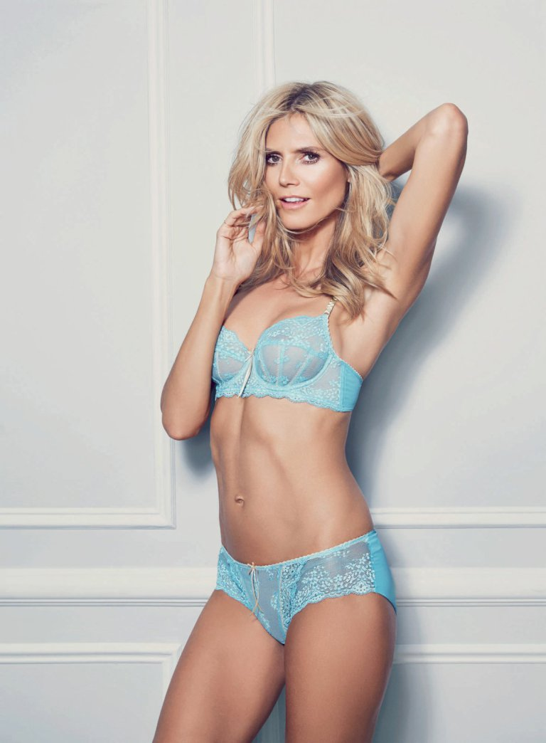Heidi Klum strips to racy lingerie for new Intimates campaign