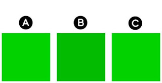 Can you see which color is different?