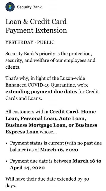 Security Bank Payment Extension