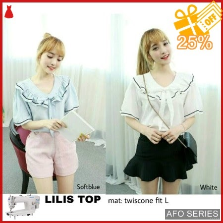 AFO414 Model Fashion Lilis Top Modis Murah BMGShop