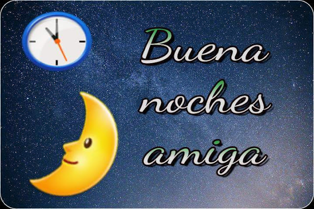 Good night images for friends in Spanish