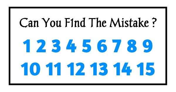 Can you find the mistake in this picture ?