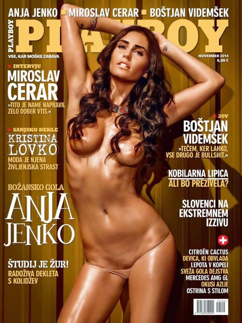 Anja Jenko pelada na Playboy da Eslovênia, novembro de 2014