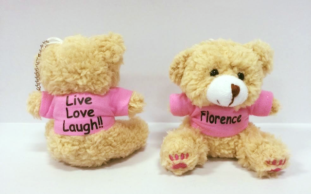 Personalized Teddy Bear with pink shirt personalized with text