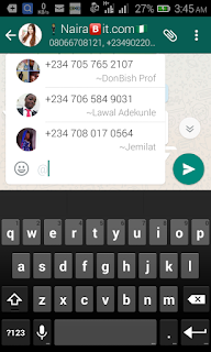 Whatsapp mention feature