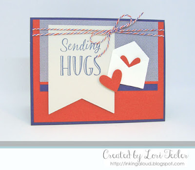 Sending Hugs card-designed by Lori Tecler/Inking Aloud-stamps from The Cat's Pajamas