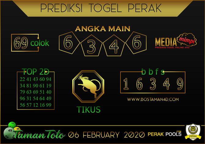 Prediksi Togel PERAK TAMAN TOTO 06 FEBRUARY 2020