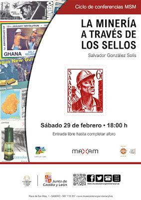 charla, conferencia, Salvador González Solís, filatelia, minería, sellos, museo, siderurgia, Sabero