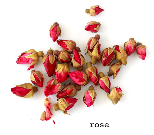 china pink rose bud flower tea to treat menstrual pain