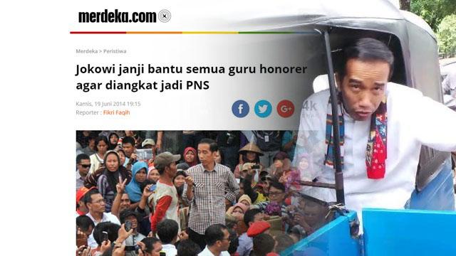 Istana Bantah Janji Jokowi Angkat Honorer jadi PNS, Ferdinand: Jokowi 'Ngeles' Bagai Bajaj