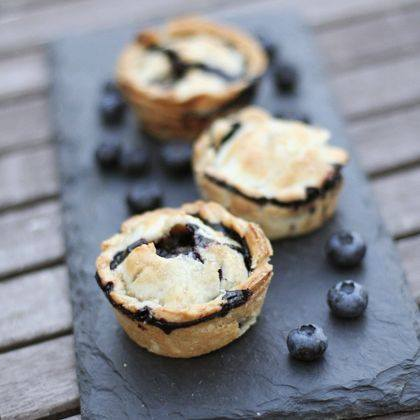 Single Serve Blueberry Pies
