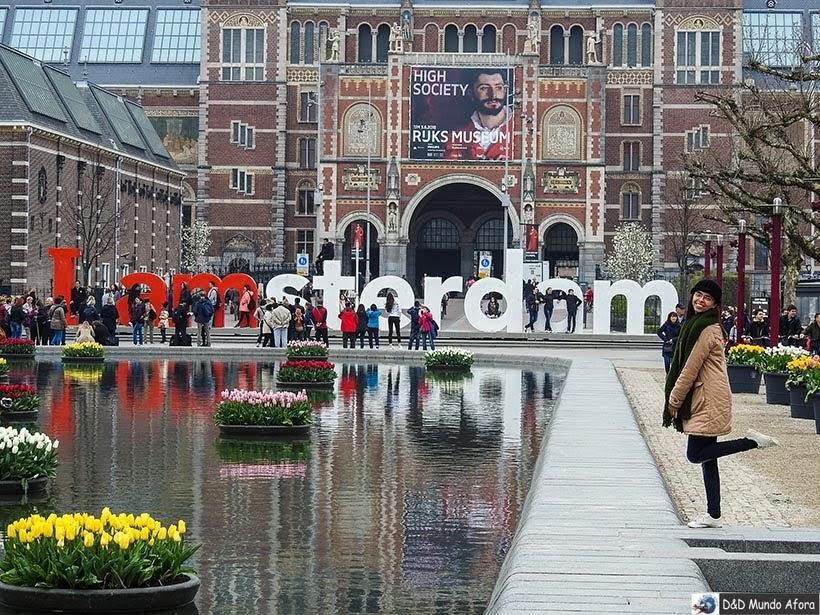 Leiteiro I Amsterdam em frente ao Rijksmuseum: como visitar o museu de Amsterdam