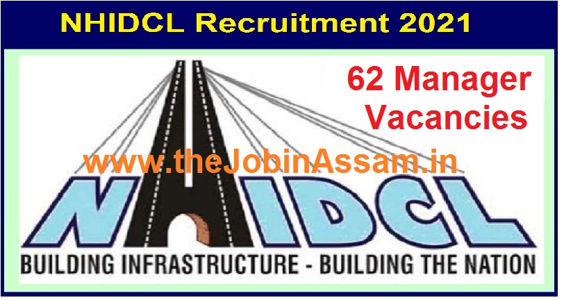 NHIDCL Recruitment 2021 – Apply for 62 Manager Vacancies