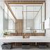 Banheiro contemporâneo e elegante, branco, bege e amadeirado com metais rose gold!